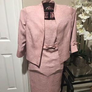 Dressbarn Pink Two Piece Dress